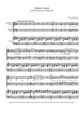 Listen, Listen - SATB with Piano accompaniment
